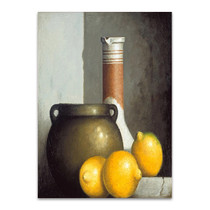 Lemon Still Life Wall Art Print