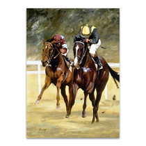Jockey Horse Racing Wall Art Print