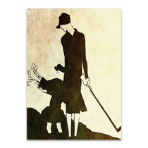 Lady and Child Golfer Wall Art Print
