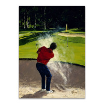 Man Playing Golf Wall Art Print