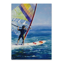 Ocean Wind Surfing Wall Art Print