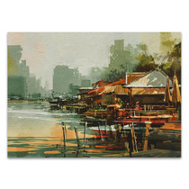 Fishing Village Wall Art Print