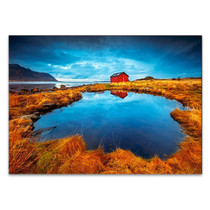 Lofoten Lake House Wall Art Print