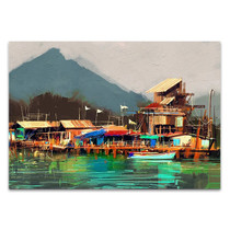 Old Fishing Village Wall Art Print