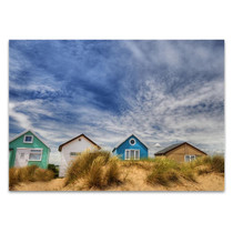 Sandy Beach Houses Wall Art Print