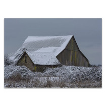 Winter Barn Wall Art Print