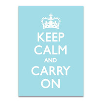 Keep Calm Wall Art Print