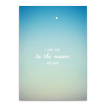 To the Moon Wall Art Print