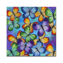 Butterflies Colour Wall Art Print