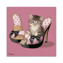 Kitten on High Heels Wall Art Print