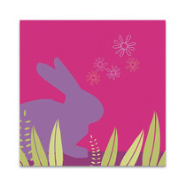 Purple Bunny Wall Art Print