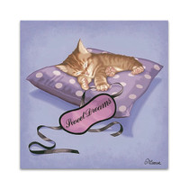 Sleeping Kitten Wall Art Print