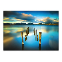 Blue Lake Sunset Wall Art Print