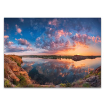Cloudy Sky Water Reflection Wall Print