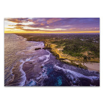 Melbourne Coastline at Dusk Wall Print