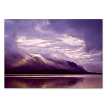 Misty Lake Coast Wall Art Print
