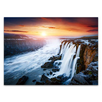 Waterfall Vatnajokull National Park Wall Print