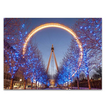 London Eye at Night Wall Art Print