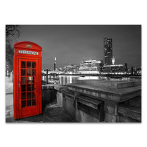 London Red Telephone Box Wall Print