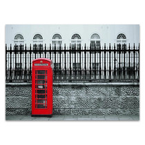 London Street Red Telephone Wall Print