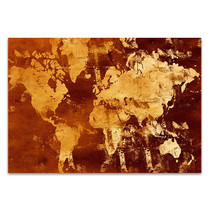 Abstract World Map Wall Art Print