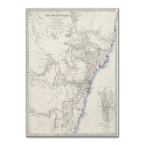 Sydney Antique Map Wall Art Print