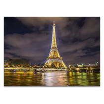 Eiffel Tower Night Lights Wall Print