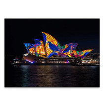 Lighting of Sydney Opera Wall Print