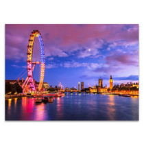 London Eye at Twilight Wall Art Print