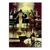 Jazz Band Wall Art Print