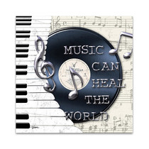 Music Heal the World Wall Print