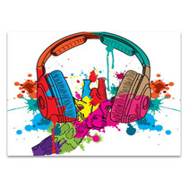 Musical Headphones Wall Print