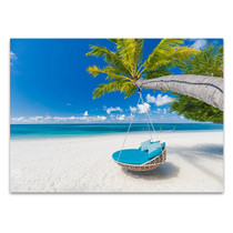 Tropical Beach Getaway Wall Print