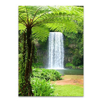 Waterfall Over Cliff Wall Art Print
