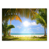 White Sandy Beach Wall Art Print