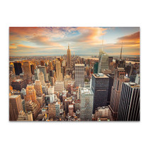 Aerial View of New York City Wall Print