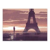 Alone in Paris Wall Art Print