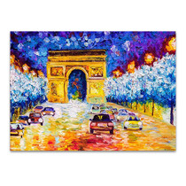 Arc De Triomphe at Paris Wall Print