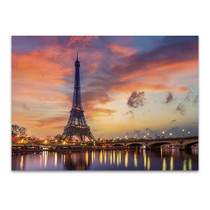 Eiffel Tower at Sunrise Wall Print