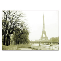 River Seine Eiffel Tower Wall Print