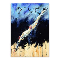 Dive Wall Art Print