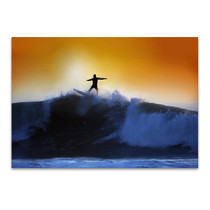 Surfer and Waves Wall Art Print