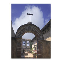 Priory Courtyard Wall Art Print