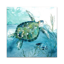 Delray Sea Turtle I Wall Art Print