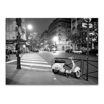 Paris France at Night Wall Art Print