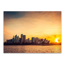 Sydney City Sunset Wall Art Print