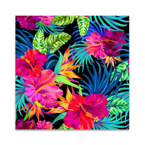 Hibiscus Palms Wall Art Print