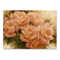 Peach Rose Splendor II Wall Print