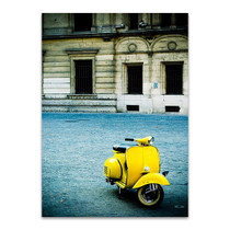 Italy Yellow Vespa Wall Print