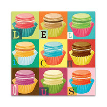 Colourful Macaroons Wall Art Print
